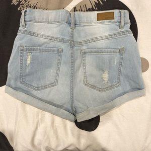 Garage Shorts - High Waisted Jean Shorts